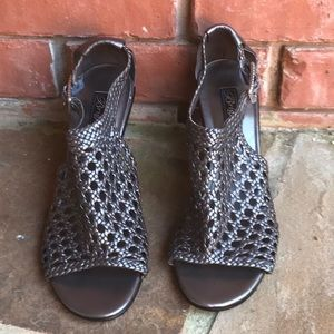 """Brighton """"Realm"""" pewter woven leather sandals"""